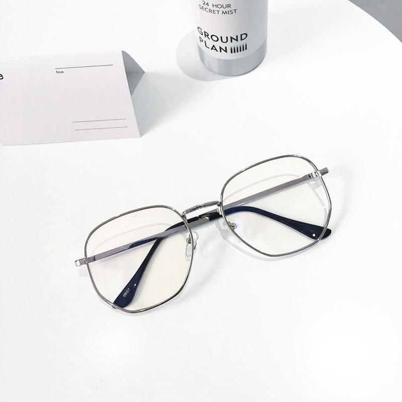 """29e05124d6351 CLEAR TRANSPARENT METALLIC FRAME SQUARE GEOMETRIC GLASSES Use coupon  """"ITPIN"""" to get 10%"""
