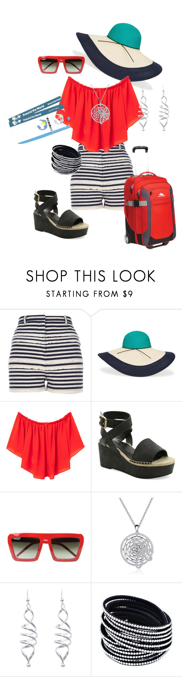 """""""Two Tickets to Paradise."""" by kelly-haven-russell on Polyvore featuring River Island, Eugenia Kim, MANGO, Kensie and High Sierra"""