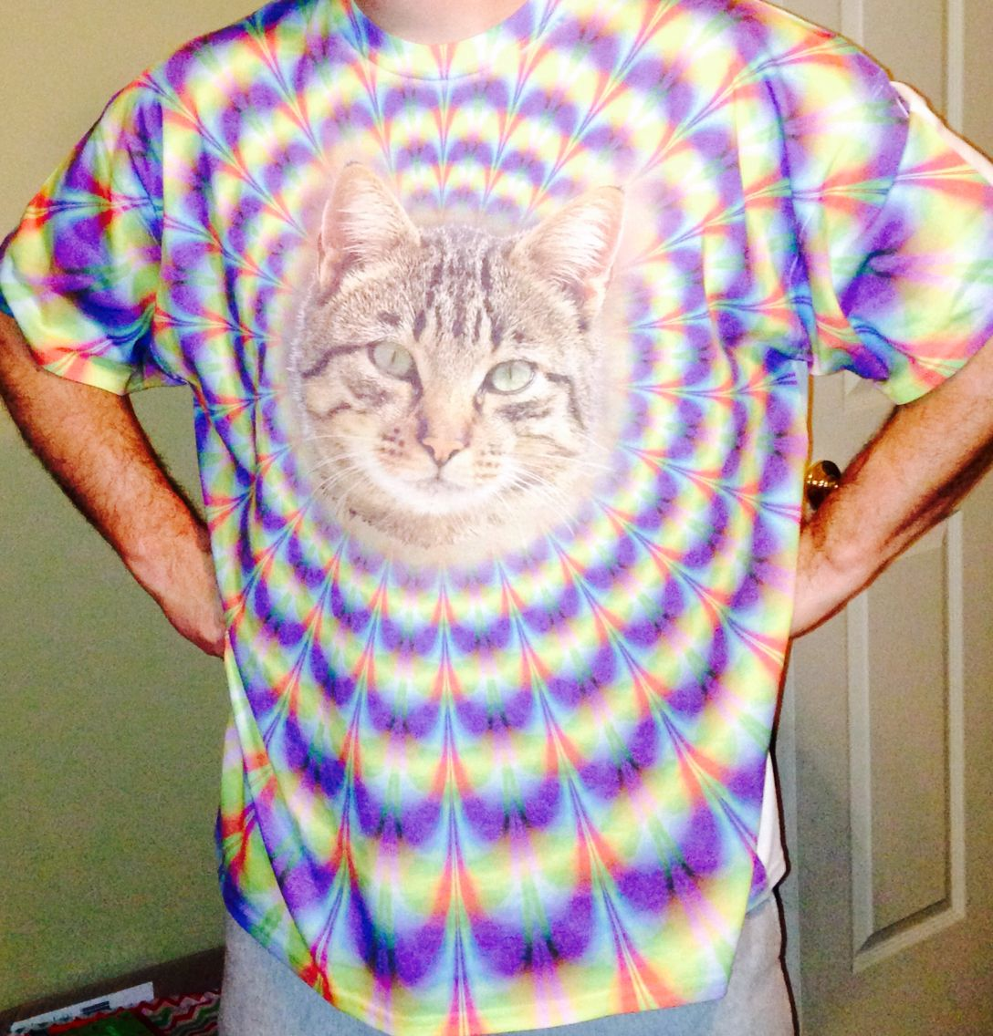 Look into the Kitty Shirt. Let it take you away......