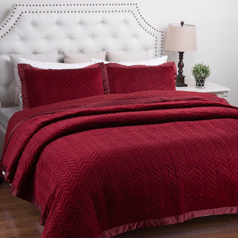 oversized bedspread brick full quilt french pa tile burgundy elegant p king solid dark queen bedding red