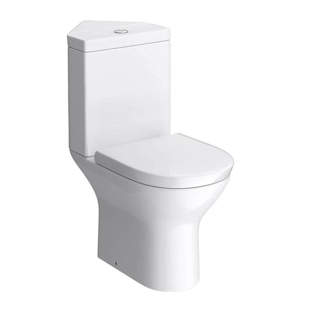Orion Modern Corner Toilet Soft Close Seat This Stylish Is Perfect For En Suites Cloakrooms Or Smaller Bathrooms