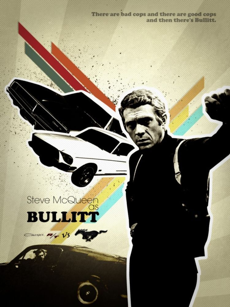 Bullitt Steve Mcqueen Movie Poster 24x36