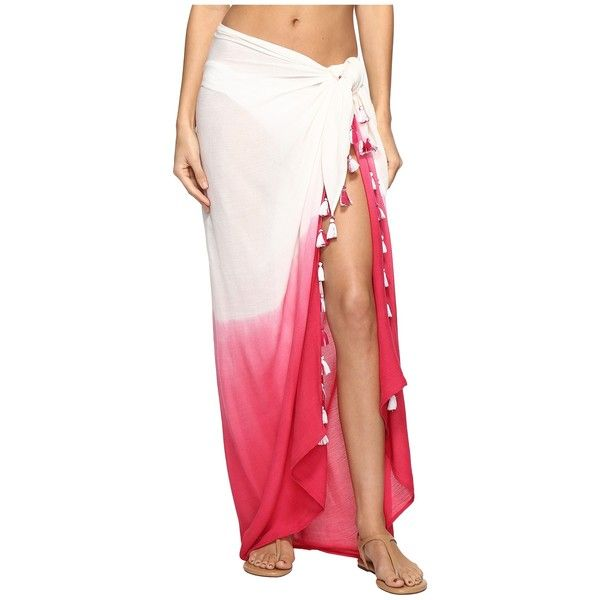 f5091e3230976 Echo Design Ombre Tassel Pareo Cover-Up (Hibiscus Pink) Women s... ( 35) ❤  liked on Polyvore featuring swimwear