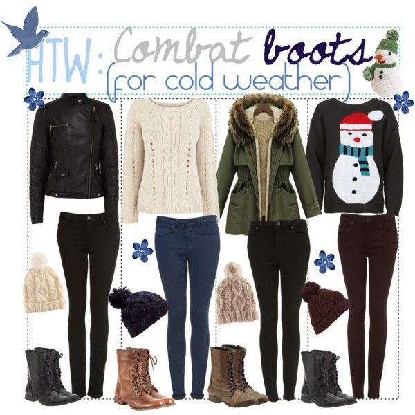 How To Wear: Combat Boots (For Cold Weather) ...   My kinda ...