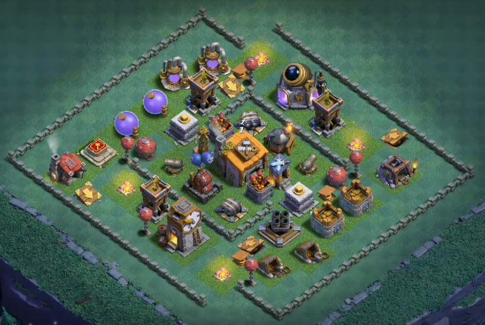12 Best Builder Hall 6 Base Links Anti 1 Stars 4000 Clash Of Clans Builder Hall