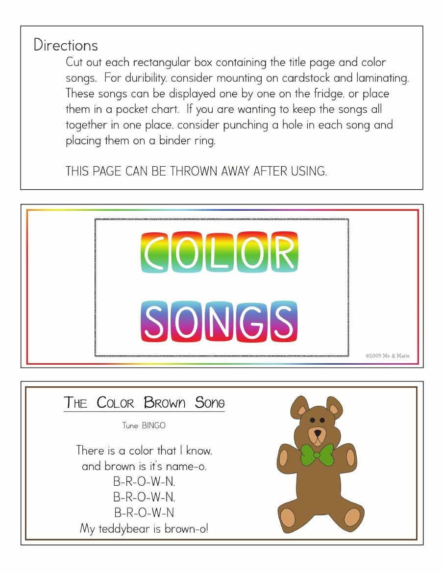Color songs ring color songs preschool color songs