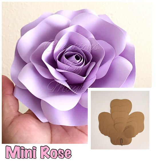 Pdf Large Rose Template 17 18 Diy Paper Roses Paper Flowers
