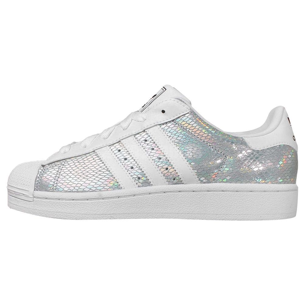 Adidas Originals Superstar 2 W Silver White Womens Casual Shoes Sneakers
