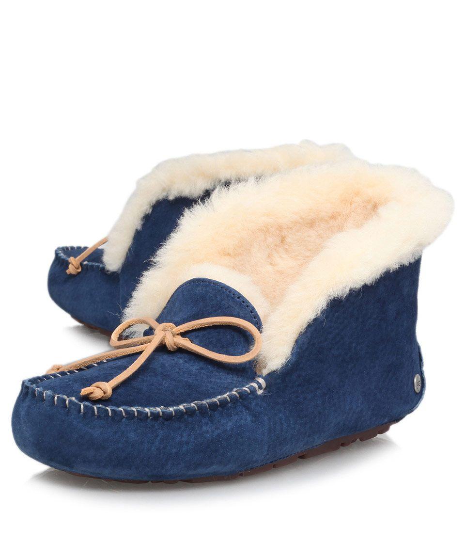 316631b1ccf Ugg Navy Alena Slipper Boots | Shoes | Liberty.co.uk | Wish List ...