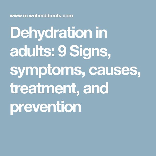 Adult dehydration symptom were not
