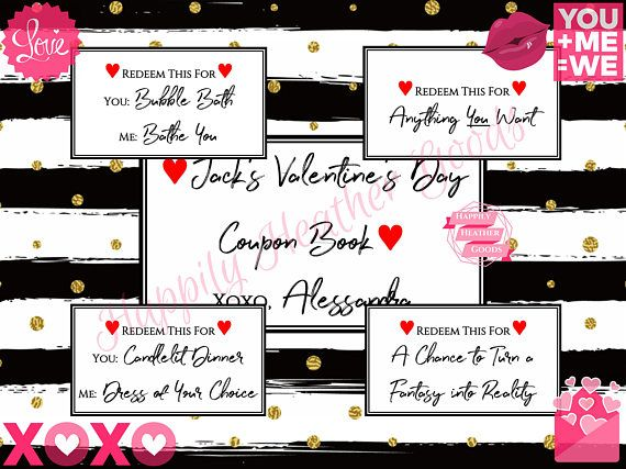 Printable Naughty Coupon Book, Naughty Valentines Day Gift for Him, Husband Valentines  Day Gift, Naughty Valentine Gift, Printable Man Gift