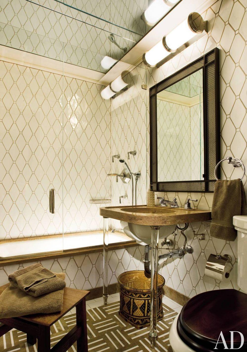 Traditional Bathroom by Arthur Dunnam in New York City