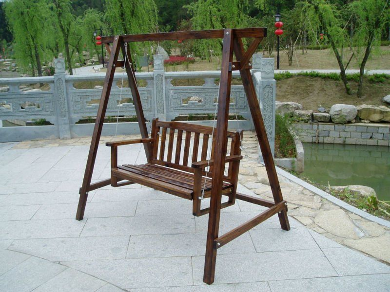 Outdoor Swinging Wooden Chairs   Google Search