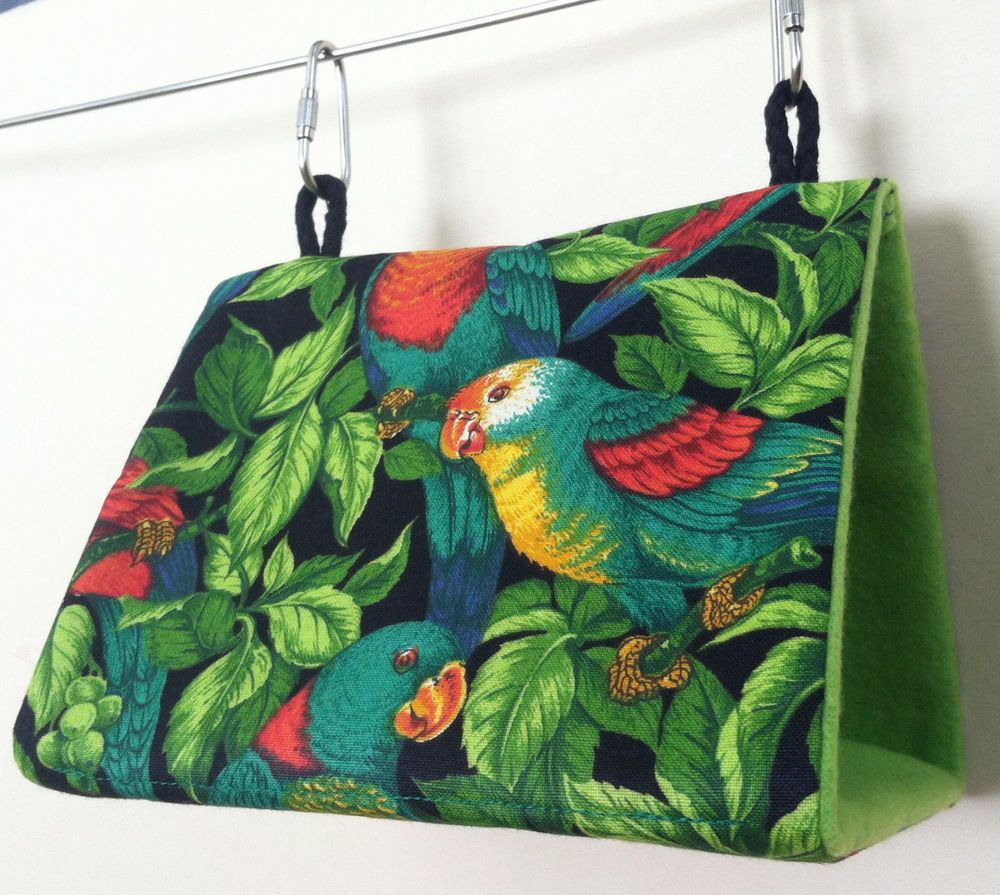 Small Bird Tent Hut Bunk Bed Parakeet Budgie Lovebird USA~Tropical Parrots #Handmadebyme & Small Bird Tent Hut Bunk Bed Parakeet Budgie Lovebird USA~Tropical ...
