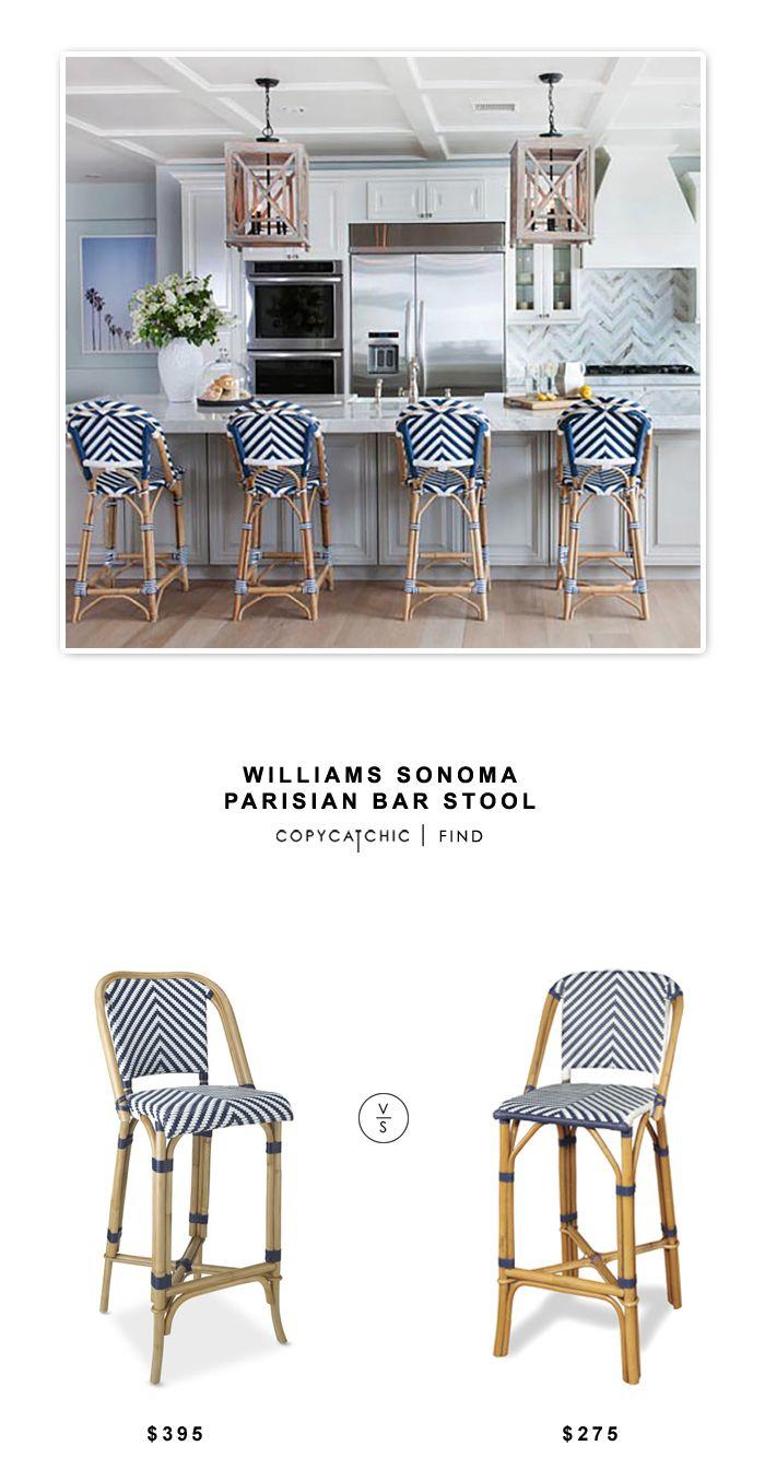 Williams Sonoma Parisian Bar Stool Rattan Bar Stools Leather