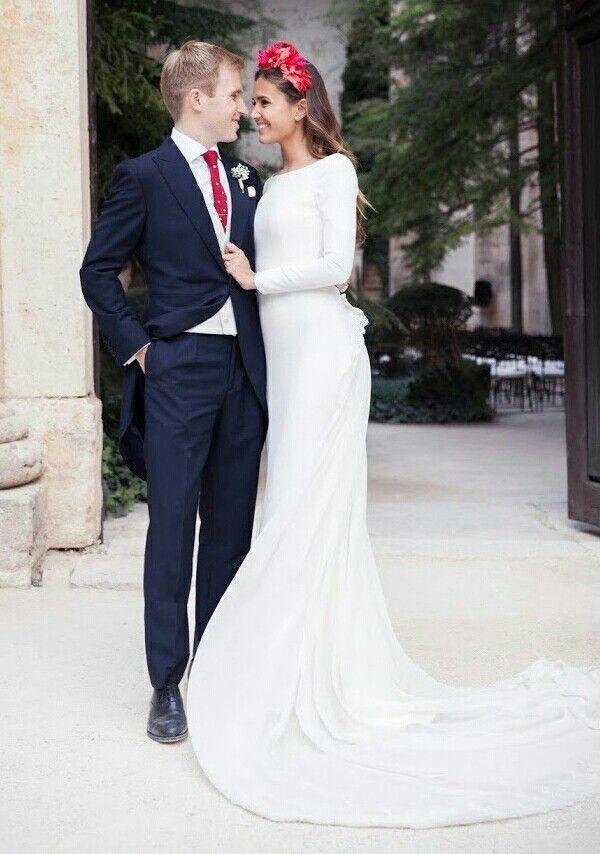 vestido novia crepe seda – vestidos de fiesta