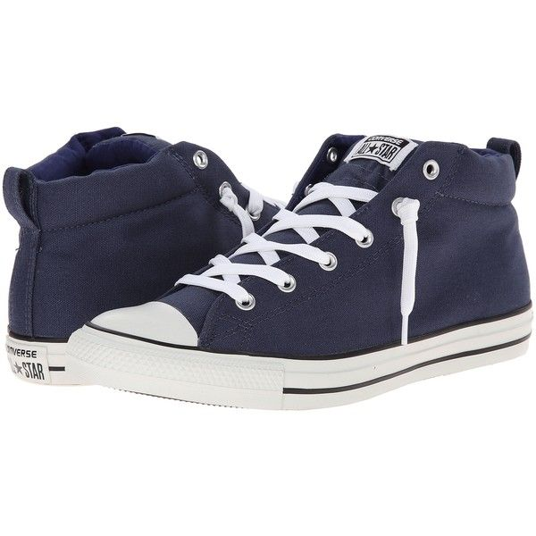 Converse Chuck Taylor All Star Street Color Pop Canvas Mid Lace up... ( 33)  ❤ liked on Polyvore featuring shoes 66392a099