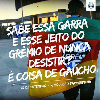3858cab439 Esporte-Futebol-Grêmio-Frase-Sabe essa garra e esse jeito do Grêmio ...