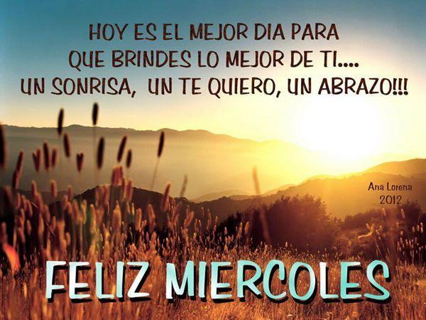 Frases positiva miercoles. #DaisyCeara #Piensa #Positivamente #Frases  #Positivo #Hermosas … | Feliz miércoles, Feliz miercoles bendiciones, Feliz  miercoles imagenes