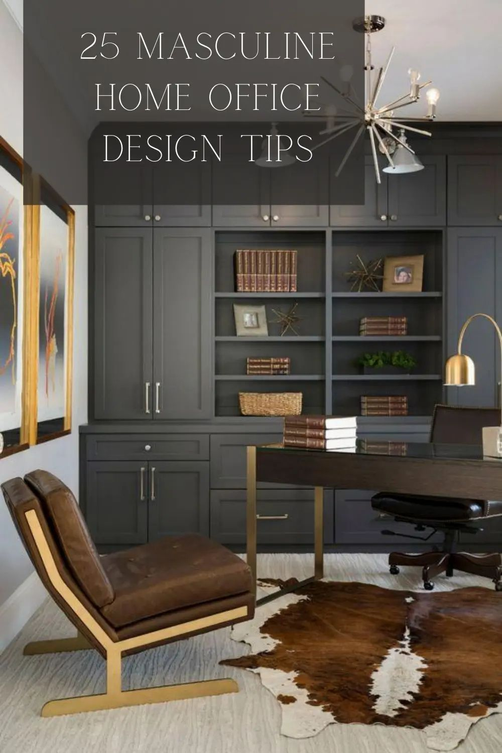 TURN YOUR SPARE BEDROOM INTO THE ULTIMATE MASCULINE HOME OFFICE WITH THESE 25 IDEAS