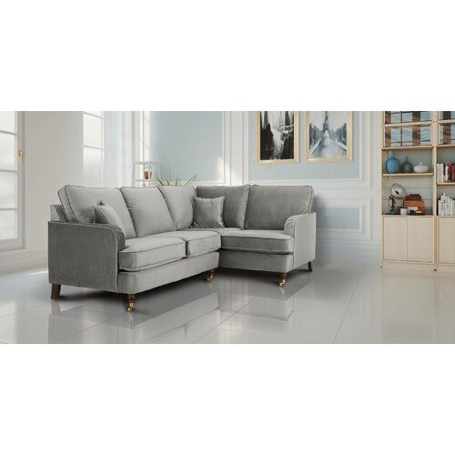 Koby Modular Corner Sofa Everly Quinn Upholstery Colour Grey Modular Corner Sofa Corner Sofa Modular Sofa Bed