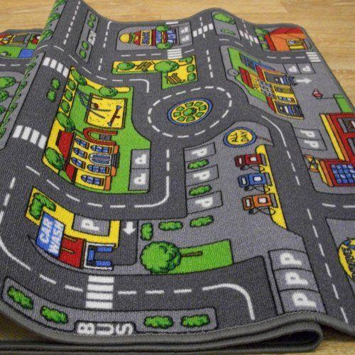 New Unisex Fun Children/'s Rugs Town Road Map City Rug Play Village Mat 80x120cm