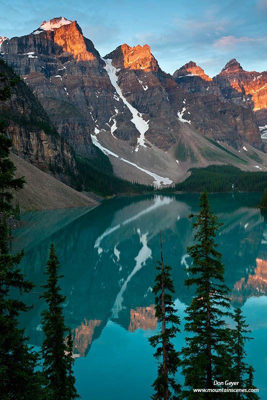Wenkchemna peaks and moraine lake Banff National Park