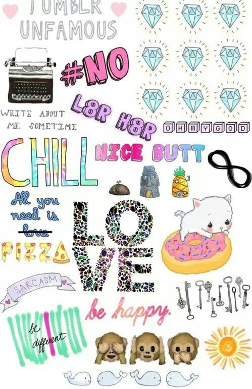 Tumblr Collage Cute Tumblr Wallpaper Tumblr Stickers Iphone Case Stickers