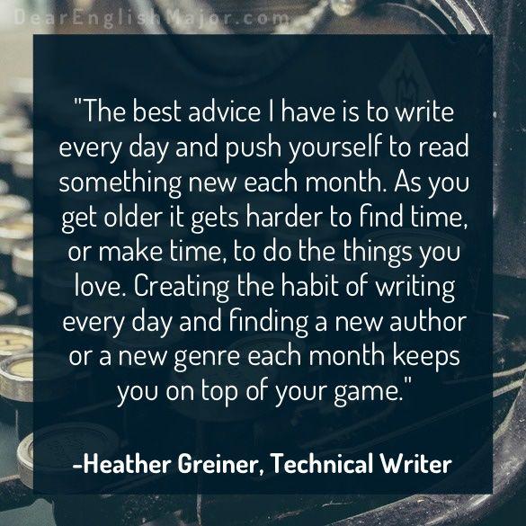 Heather Greiner Technical Writer Technical writer