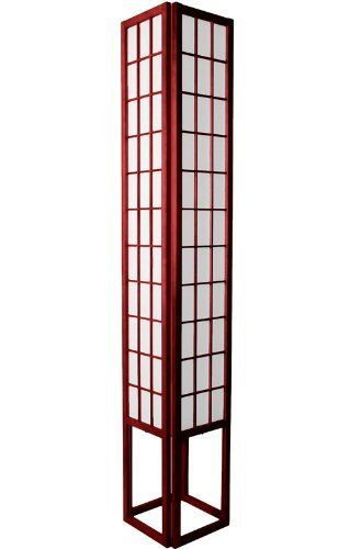 Oriental furniture multi light extra tall floor lamp 6 feet oriental furniture multi light extra tall floor lamp 6 feet japanese design wood and paper shoji lantern rosewood by oriental furniture 24400 mozeypictures Choice Image