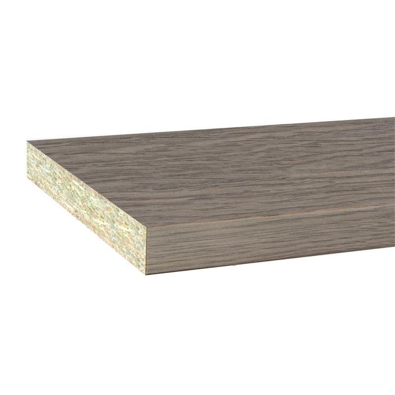 Inbuilt Colourboard 1800 X 445 X 16mm Ancient Oak E1l Melamine Oak Ancient Melamine