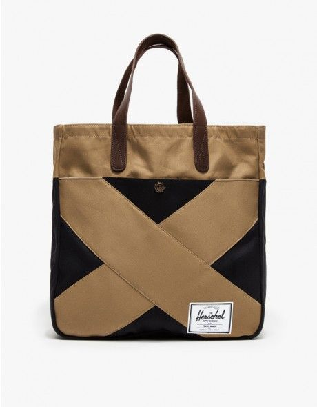2321174178f Slim and stylish two-tone canvas tote from Herschel Supply Co. Constructed  with a cotton canvas body with layered panels mimicking the classic color  block ...