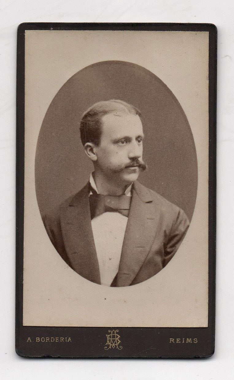 CDV Carte De Visite Photo Homme A BORDERIA Reims Vers 1880