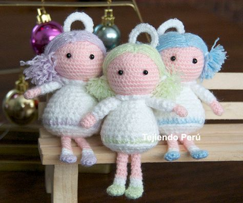 Cómo tejer ángeles a crochet en la técnica del amigurumi! Ideal para ...