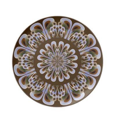 Leopard Like Fractal Flower Plate