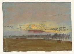 Joseph Mallord William Turner 'The Setting Sun over Petworth Park', 1827