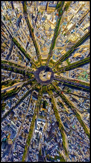 It is not a starfish, is the center of Paris, France. Picture taken from space. You can see the Avenue of Champs-Elysées in the middle.