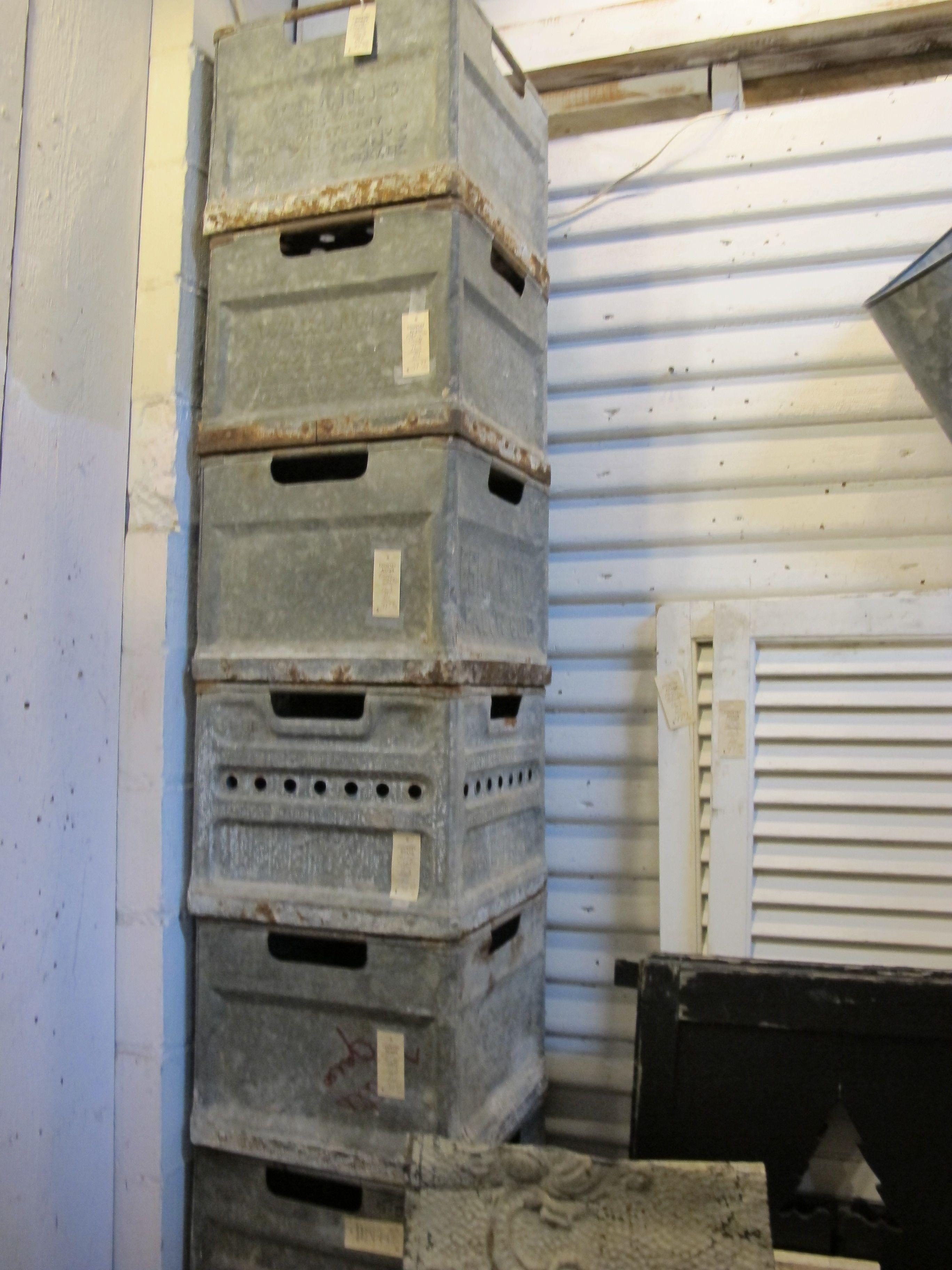 Metal Crates Vintage Industrial Crates Metal
