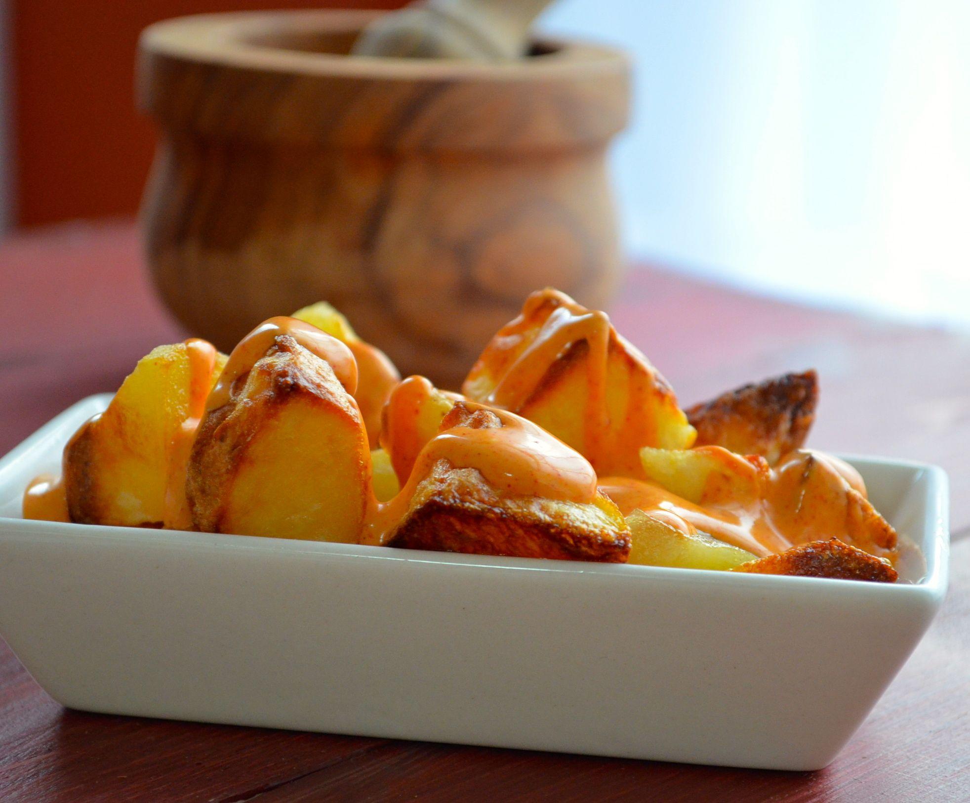 Patatas bravas tapas #recipes #tapas #Spain #vegan #potatoes #kosher