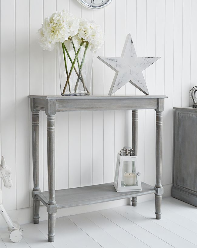 British Colonial Furniture Range In Grey Console Table From The White Lighthouse Console Table Hallway Small Console Tables Gray Console Table