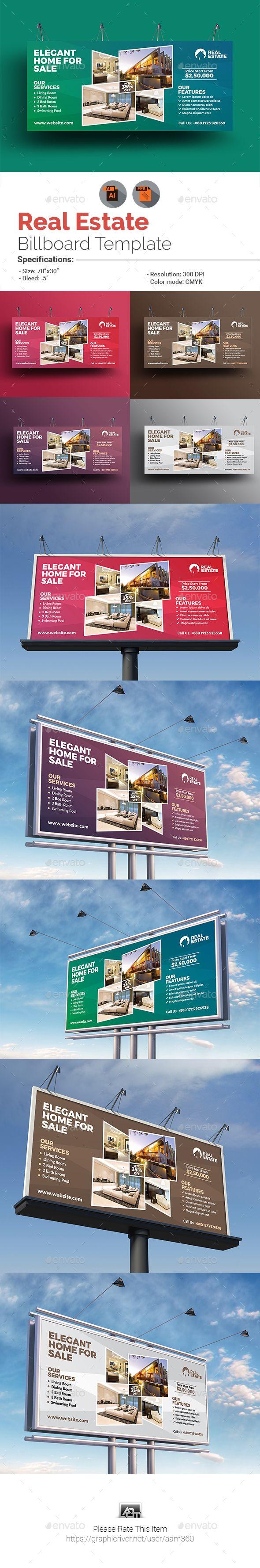 Real Estate Billboard Template Vector Eps Ai Illustrator