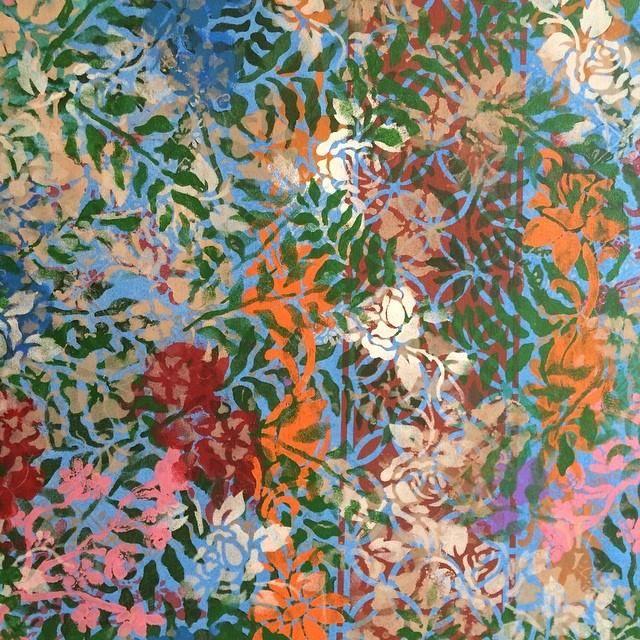 Floral Blue acrilico sobre tela 2014 - 65x170 - acrylic on canvas -  Melina Ollandezos