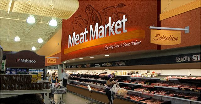 Grocery Store Design Meat Department Design Interior Grocery Rendering Market Decor Design In 2020 Grocery Store Design Supermarket Design Store Design