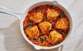 Photo of Provencal Chicken with Tomatoes, Olives, and Basil