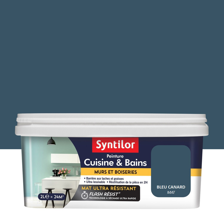 Peinture Syntilor Bleu Canard 2 L En 2019 Bleu Canard