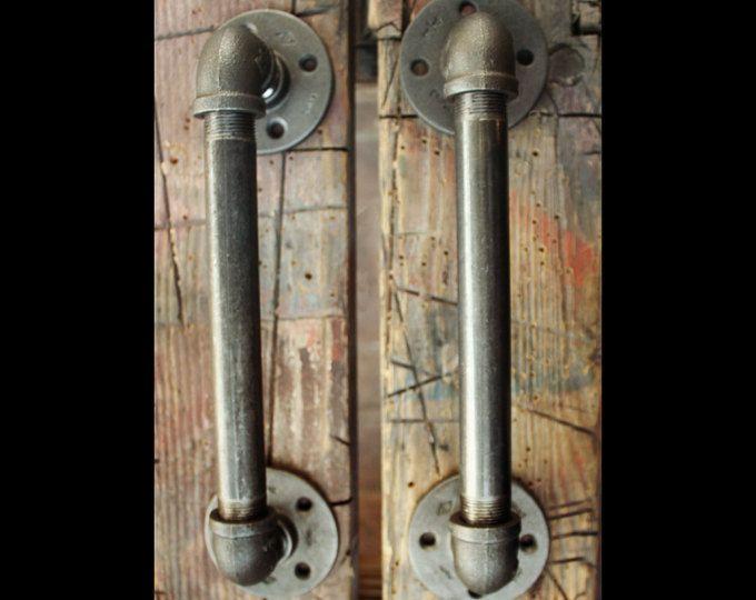 Industrial Urban Farmhouse Steampunk Style Door Handles Door Etsy Door Handles Industrial Door Steampunk Door