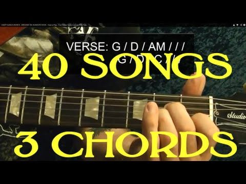 40 Popular Rock Songs Three Chords Easy Guitar Lesson With Chord