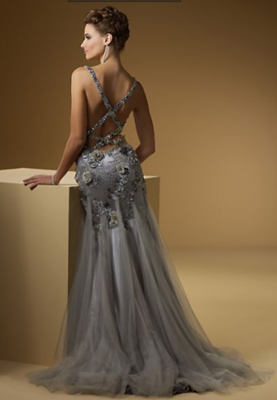 Another image of Rina di Montella 1509 Sexy Beaded Tulle Formal ...