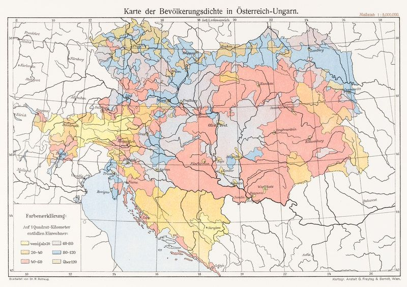 A german map of the population density of austria hungary maps a german map of the population density of austria hungary gumiabroncs Choice Image