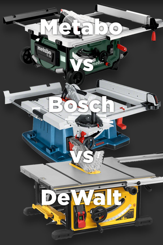 Table Saws Compared Bosch Vs Dewalt Vs Metabo Machine Atlas Dewalt Bosch Best Table Saw